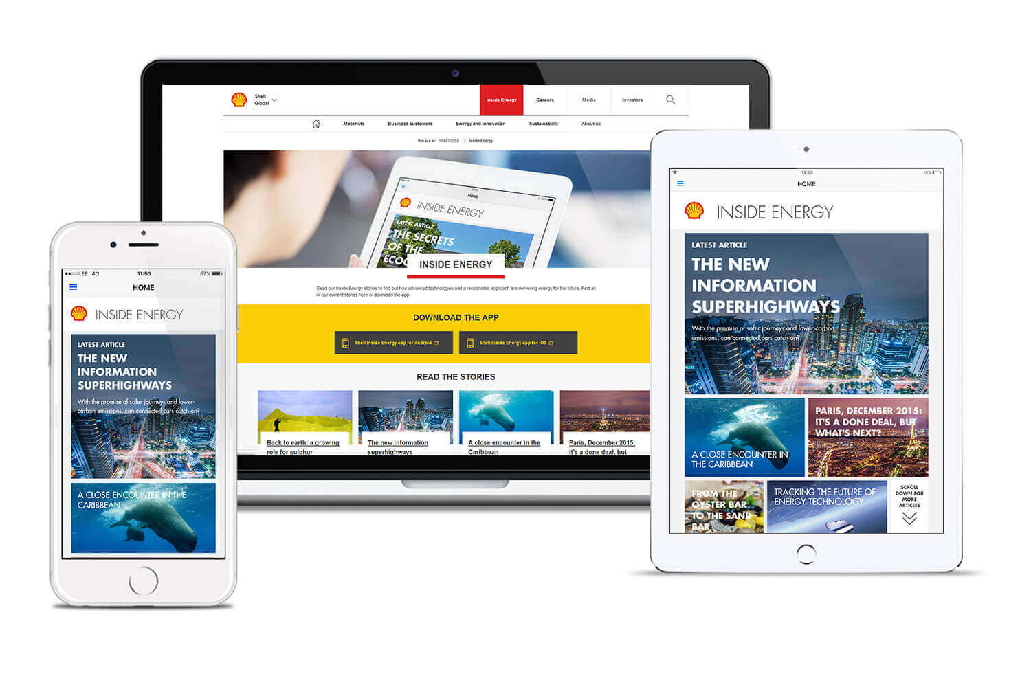 apps design agency work for Shell Inside Energy