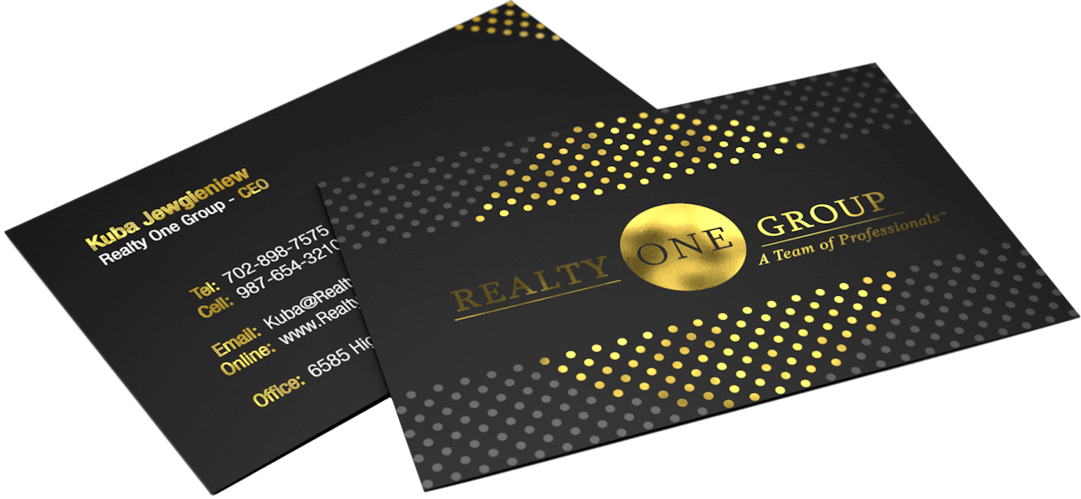 Creative business stationery design for Realty One Group