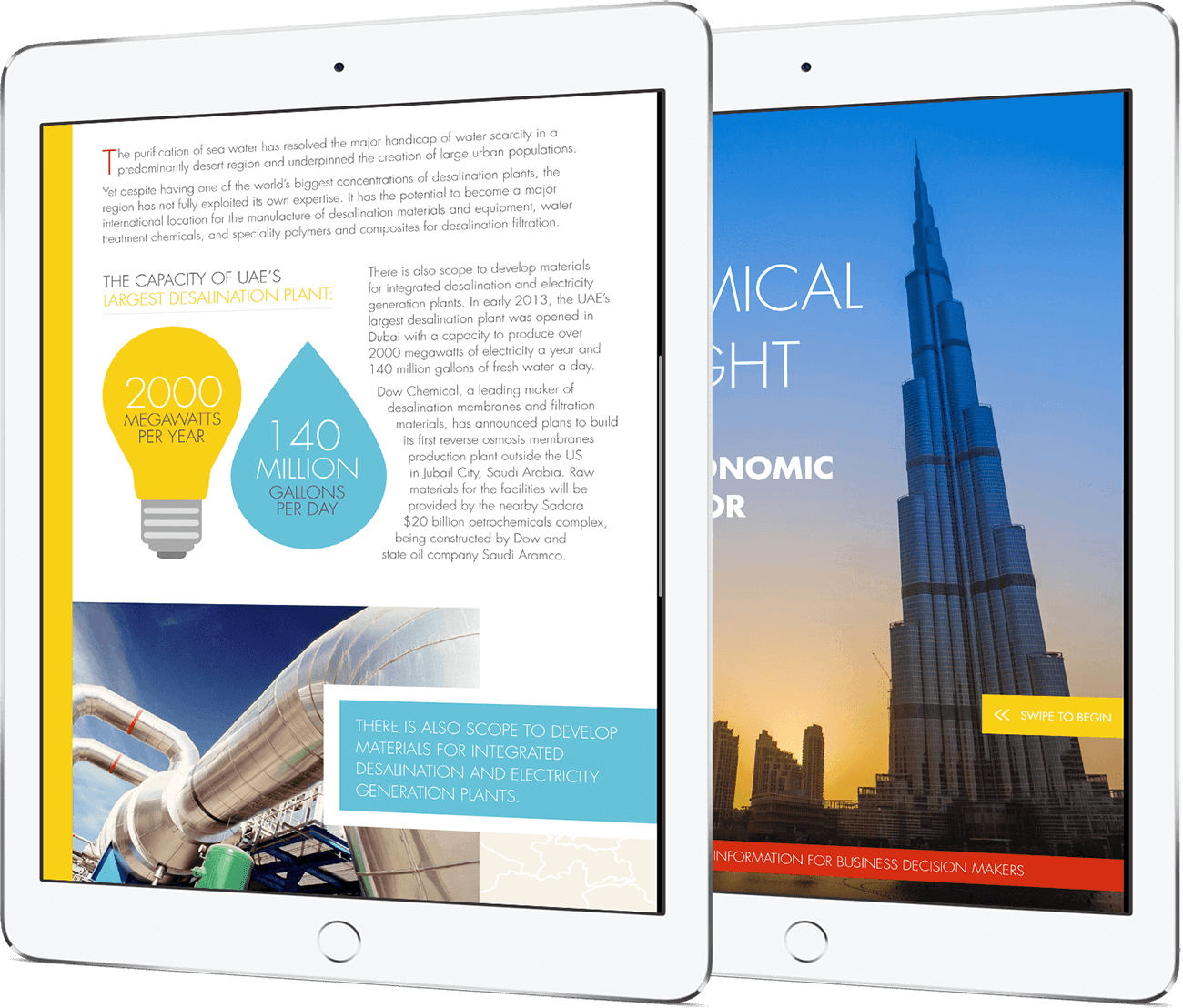 digital corporate publications design for Chemicals Insight