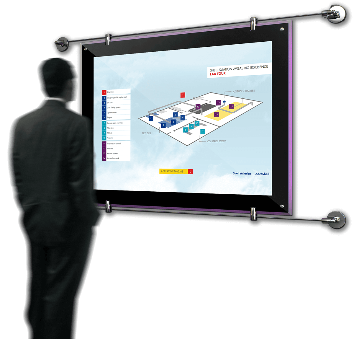Interactive touch screen design for Avgas
