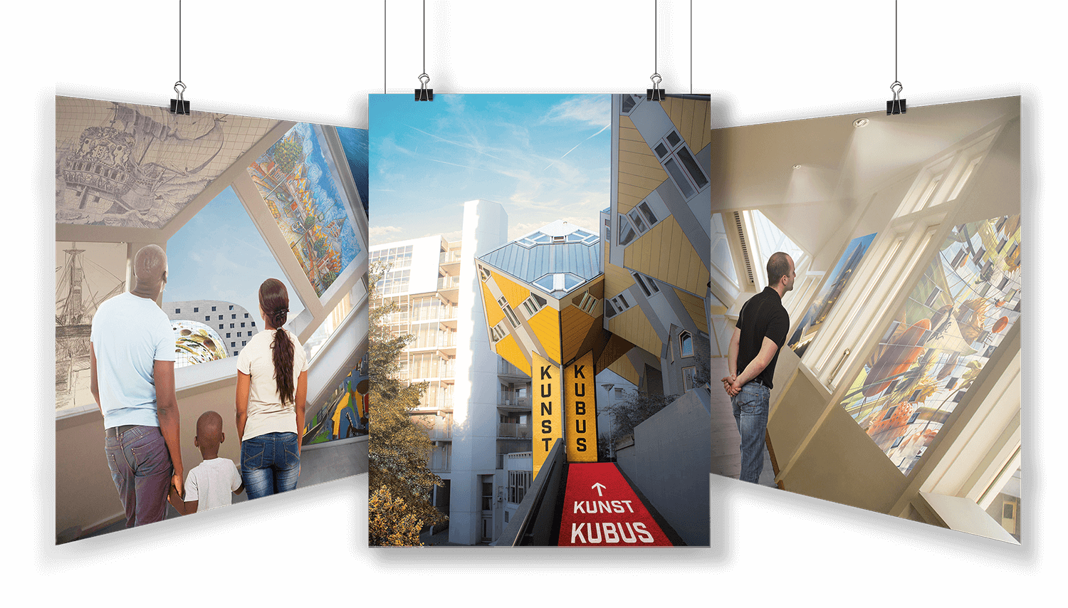 Large format and exhibition graphics design for Kunstkubus