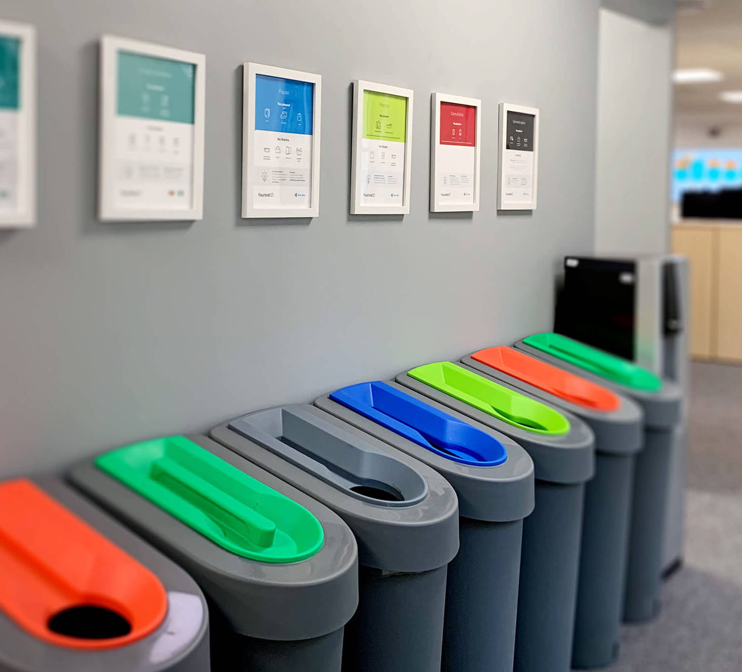 In house recycling and office waste posters