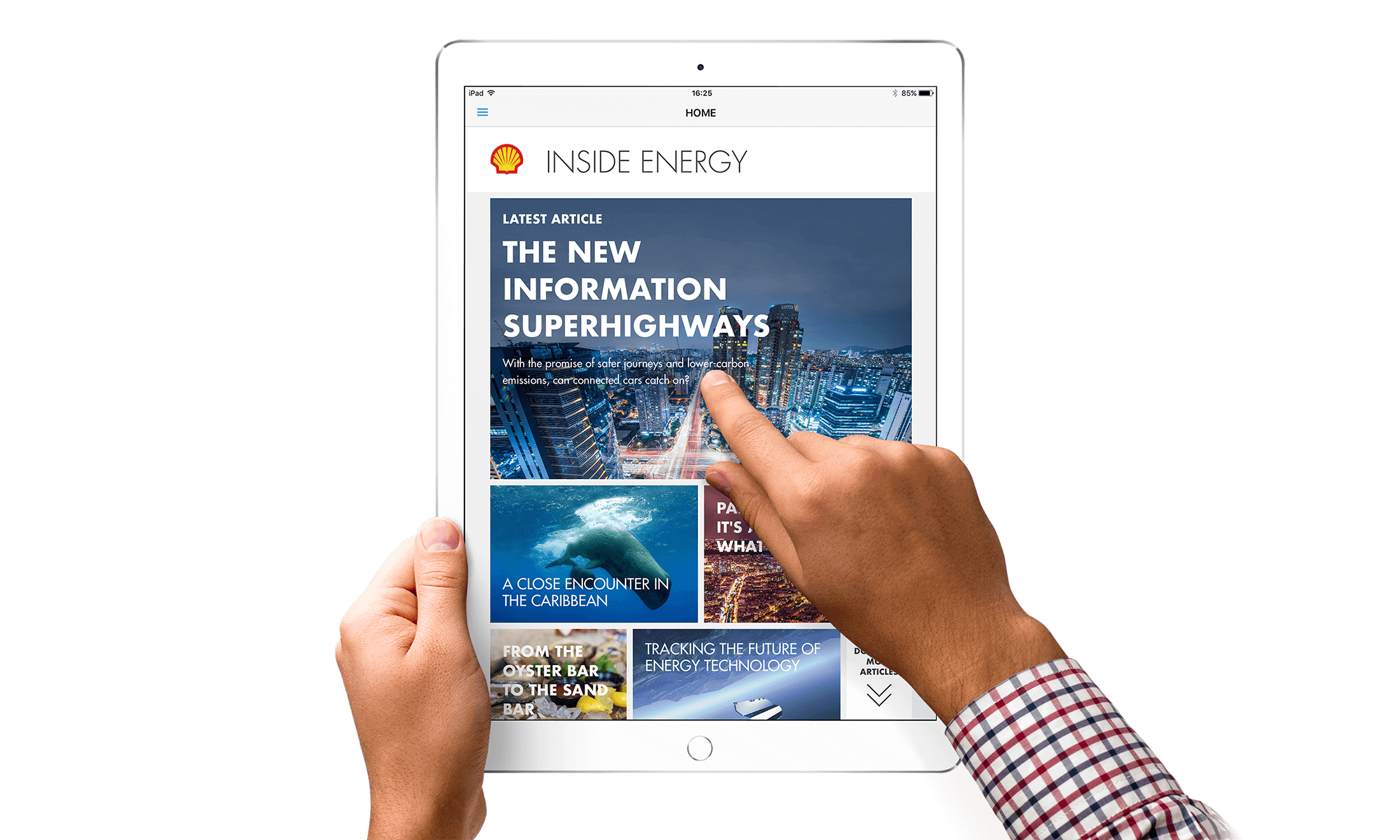 Tablet magazine app design work for Inside Energy